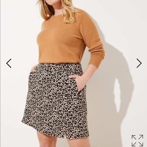 Loft plus leopard print skirt